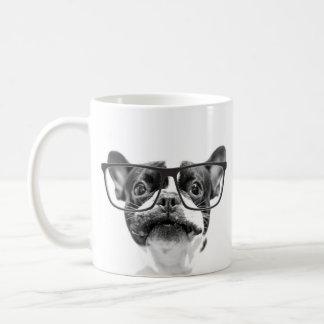 Reputable French Bulldog with Glasses Coffee Mug