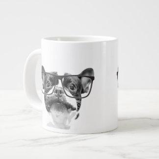 Reputable French Bulldog with Glasses Jumbo Mug