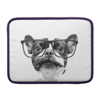 Reputable French Bulldog with Glasses MacBook Sleeves