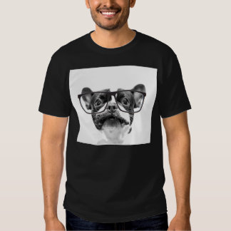 Reputable French Bulldog with Glasses T Shirt