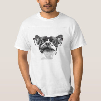 Reputable French Bulldog with Glasses Tee Shirt