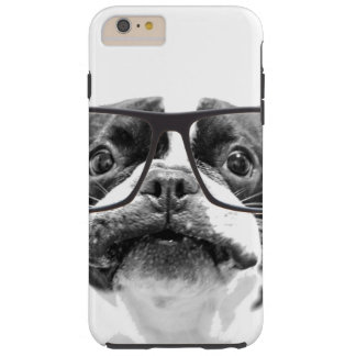 Reputable French Bulldog with Glasses Tough iPhone 6 Plus Case