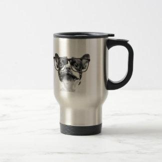 Reputable French Bulldog with Glasses Travel Mug