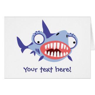 Requin drôle cartes de vœux