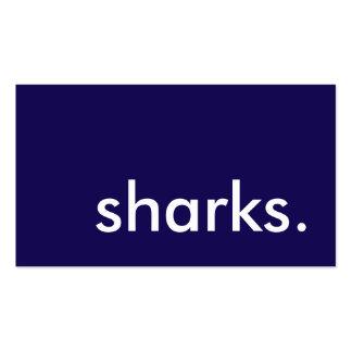 requins modèle de carte de visite