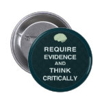 Require Evidence and Think Critically Buttons