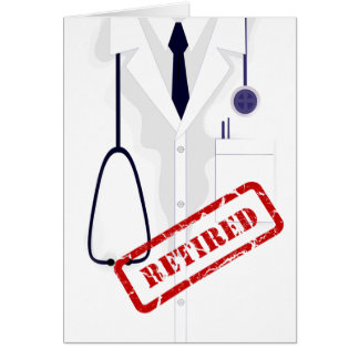 Rertired Doctor Medical Coat Male Custom Card