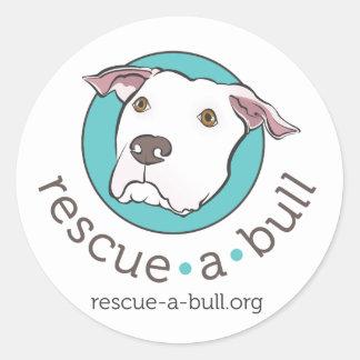 rescue-a-bull classic round sticker