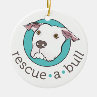 Rescue-a-bull ornament