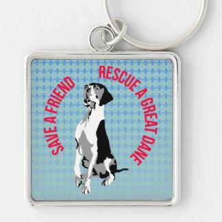 Rescue A great dane Keychain