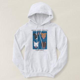Rescue, Adopt, Educate hoodie