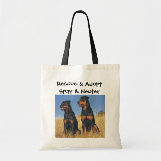 Rescue & Adopt, Spay & Neuter, Rottweilers Tote Bag