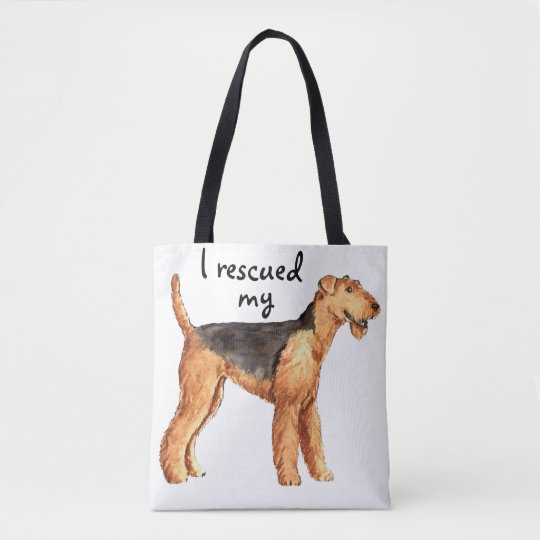 Rescue Airedale Tote Bag