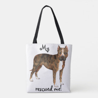 Rescue Am Staff Tote Bag