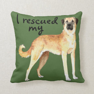 Rescue Anatolian Shepherd Throw Pillow