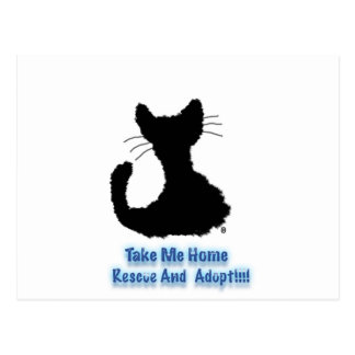 rescue and adopt postcard