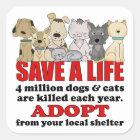 Rescue Animals Square Sticker