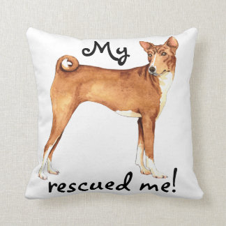 Rescue Basenji Throw Pillow