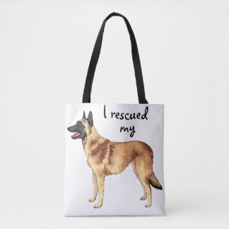 Rescue Belgian Malinois Tote Bag