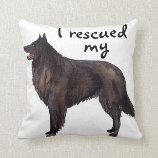 Rescue Belgian Sheepdog Throw Pillow