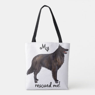 Rescue Belgian Sheepdog Tote Bag