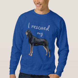 Rescue Black and Tan Coonhound Sweatshirt