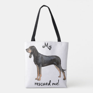 Rescue Black and Tan Coonhound Tote Bag