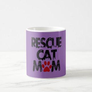 Rescue Cat Mom Coffee Mug