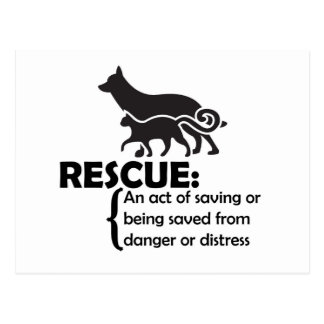 Rescue Definition Postcard