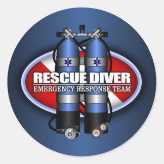 Rescue Diver (ST) Classic Round Sticker