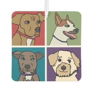Rescue Dog Cartoon Air Freshener