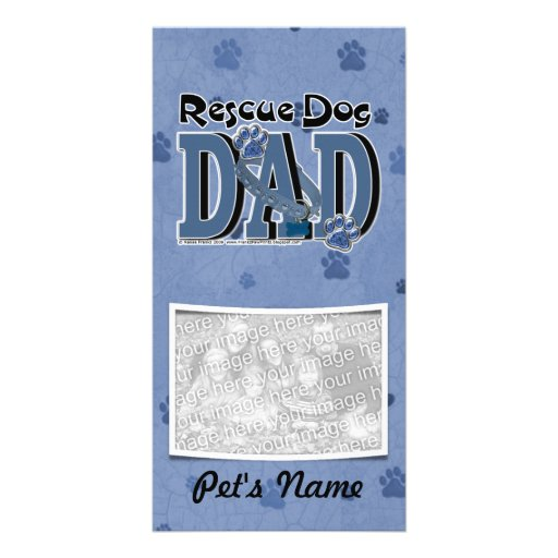 Rescue Dog DAD Photo Cards