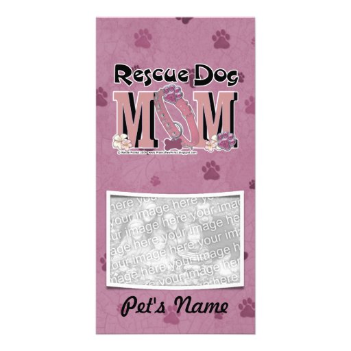Rescue Dog MOM Photo Card Template