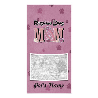 Rescue Dog MOM Picture Card