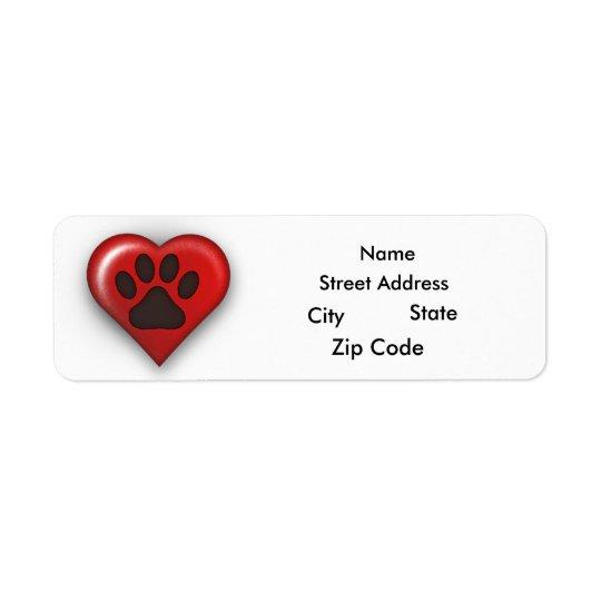 Rescue Dog Owner Return Address Lables Return Address Label