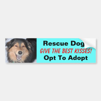 Rescue Dogs Give the Best Kisses!... Bumper Sticker