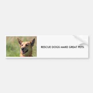 RESCUE DOGS MAKE GREAT PETS BUMPER STICKER