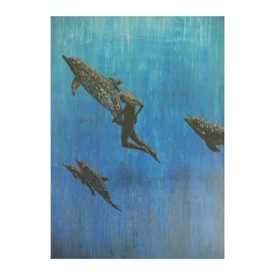 Rescue dolphins canvas print