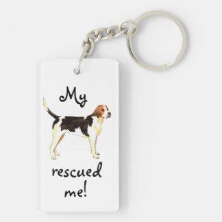 Rescue English Foxhound Double-Sided Rectangular Acrylic Keychain