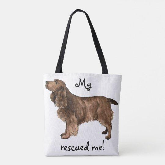 Rescue Field Spaniel Tote Bag