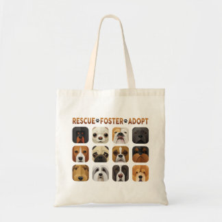 Rescue Foster Adopt Tote Bag