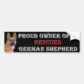 Rescue German Shepherd Bumper Sticker