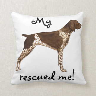Rescue German Shorthaired Pointer Throw Pillow