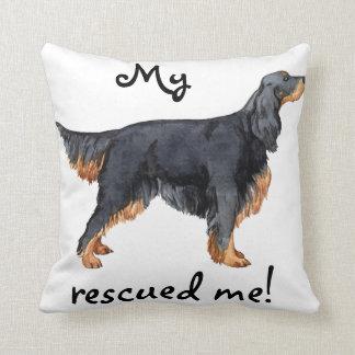 Rescue Gordon Setter Throw Pillow