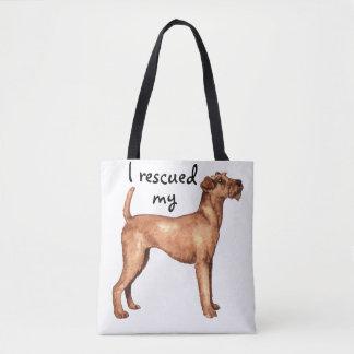 Rescue Irish Terrier Tote Bag