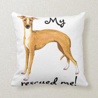 Rescue Italian Greyhound Throw Pillow
