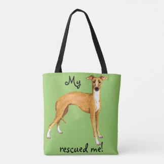 Rescue Italian Greyhound Tote Bag