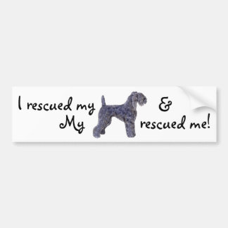 Rescue Kerry Blue Bumper Sticker