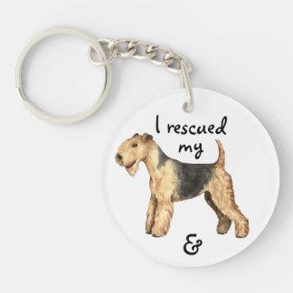 Rescue Lakeland Terrier Keychain