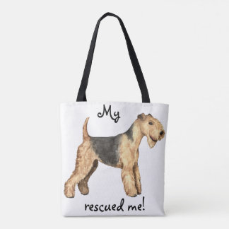Rescue Lakeland Terrier Tote Bag